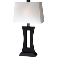 Z-Lite Portable Lamps 1 Light Table Lamp in Black/White TL106