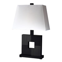 Z-Lite Portable Lamps 1 Light Table Lamp in Black/White TL107