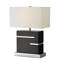 Signature 22 inch 100 watt Black Table Lamp Portable Light