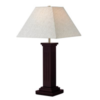 Signature 28 inch 100 watt Mahogany Table Lamp Portable Light