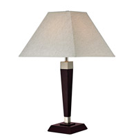 Signature 25 inch 100 watt Mahogany Table Lamp Portable Light