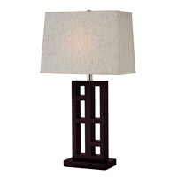 Signature 31 inch 100 watt Mahogany Table Lamp Portable Light