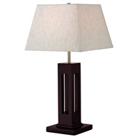 Signature 27 inch 100 watt Mahogany Table Lamp Portable Light