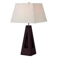 Z-Lite TL116 Signature 26 inch 100 watt Mahogany Table Lamp Portable Light