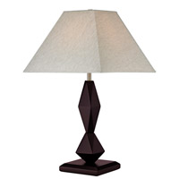 Signature 26 inch 100 watt Mahogany Table Lamp Portable Light