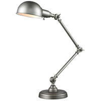 Stuart 36 inch 60 watt Burnished Silver Table Lamp Portable Light in Burnished Silver Steel