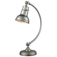 Ramsay 20 inch 60 watt Burnished Silver Table Lamp Portable Light in Burnished Silver Steel