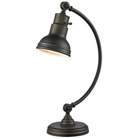 Ramsay 20 inch 60 watt Olde Bronze Table Lamp Portable Light in Olde Bronze Steel