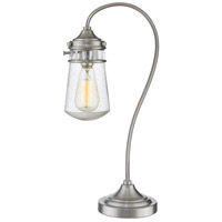 Celeste 21 inch 100 watt Brushed Nickel Table Lamp Portable Light