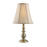 Z-Lite Portable Lamps 1 Light Table Lamp in Antique Brass TL24 photo thumbnail