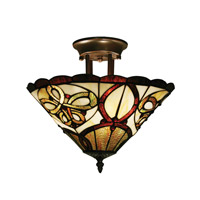 Z-Lite Albany 3 Light Semi-Flush Mount in Chestnut Bronze Z14-10-10C