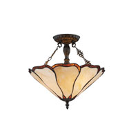 Z-Lite Monarch 3 Light Semi Flush Mount in Bronze Z14-3-14