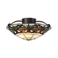 Z-Lite Hudson 3 Light Semi-Flush Mount in Chestnut Bronze Z14-33SF