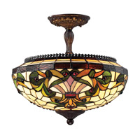 Z-Lite Templeton 3 Light Semi-Flush Mount in Chestnut Bronze Z14-34SF