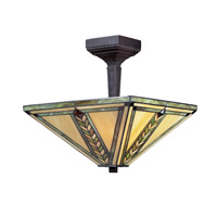 Shalimar 3 Light 14 inch Chestnut Bronze Semi-Flush Mount Ceiling Light