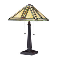 Z-Lite Shalimar 2 Light Table Lamp in Chestnut Bronze Z14-45TL