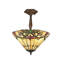 Sola 3 Light 14 inch Chestnut Bronze Semi-Flush Mount Ceiling Light