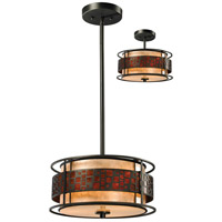 Z-Lite Milan 3 Light Convertible Pendant/Semi Flush Mount in Java Bronze Z14-50P-C