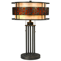 Oak Park 22 inch 100 watt Java Bronze Table Lamp Portable Light