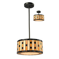 Z-Lite Raya 3 Light Convertible Pendant/Semi Flush Mount in Java Bronze Z14-51P-C