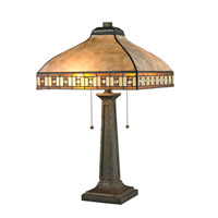 Crimson 24 inch 60 watt Java Bronze Table Lamp Portable Light