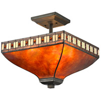 Z-Lite Crimson 3 Light Semi Flush Mount in Java Bronze Z14-53SF