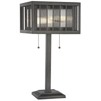 Meridional 23 inch 100 watt Bronze Table Lamp Portable Light
