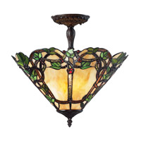 Z-Lite Vidonia 3 Light Semi-Flush Mount in Chestnut Bronze Z16-37SF