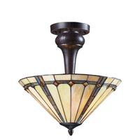 Z-Lite Moa 3 Light Semi-Flush Mount in Chestnut Bronze Z16-42SF