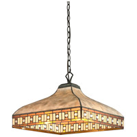 Crimson 3 Light 17 inch Java Bronze Pendant Ceiling Light