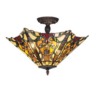 Z-Lite Mandolin 3 Light Semi-Flush Mount in Chestnut Bronze Z18-31SF