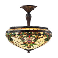 Z-Lite Templeton 3 Light Semi-Flush Mount in Chestnut Bronze Z18-34SF