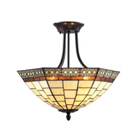 Z-Lite Prairie Garden 3 Light Semi-Flush Mount in Chestnut Bronze Z18-35SF