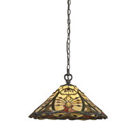 Jenova 1 Light 18 inch Chestnut Bronze Pendant Ceiling Light