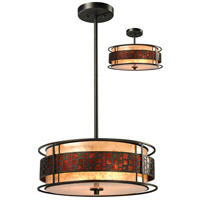 Z-Lite Milan 3 Light Convertible Pendant/Semi Flush Mount in Java Bronze Z18-50P-C