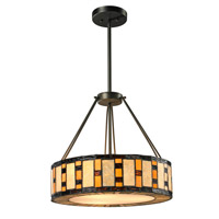 Raya 3 Light 18 inch Java Bronze Pendant Ceiling Light