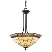 Z-Lite Prairie Garden 3 Light Pendant in Chestnut Bronze Z22-35P