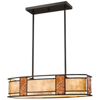 Parkwood 4 Light 32 inch Bronze Island Light Ceiling Light