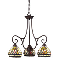 Z-Lite Templeton 3 Light Chandelier in Chestnut Bronze Z34-3