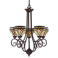 Z-Lite Templeton 5 Light Chandelier in Chestnut Bronze Z34-5