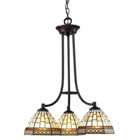 Z-Lite Prairie Garden 3 Light Chandelier in Chestnut Bronze Z35-3