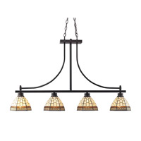 Z-Lite Prairie Garden 4 Light Island Light in Chestnut Bronze Z35-4