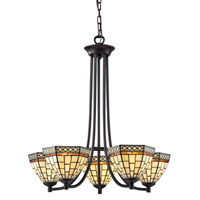 Z-Lite Prairie Garden 5 Light Chandelier in Chestnut Bronze Z35-5