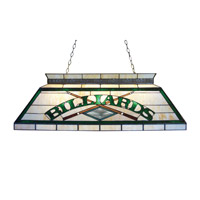 Tiffany 4 Light 43 inch Antique Brass Billiard Ceiling Light
