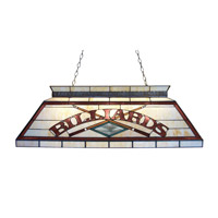 Z-Lite Tiffany Billiard 4 Light Billiard in Antique Brass Z42-26-04