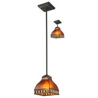 Crimson 1 Light 6 inch Java Bronze Mini Pendant Ceiling Light
