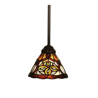 Z-Lite Albany 1 Light Mini Pendant in Chestnut Bronze Z7-10MP
