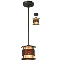 Z-Lite Z8-50MP-C Oak Park 1 Light 7 inch Java Bronze Mini Pendant Ceiling Light