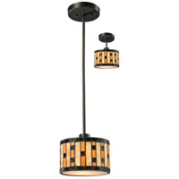 Z-Lite Raya 1 Light Mini Pendant in Java Bronze Z8-51MP-C